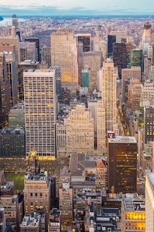 Vue aérienne de new york city