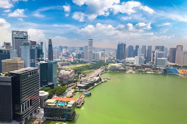 Vue aérienne panoramique de singapour