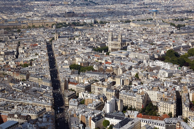 Vue aérienne de paris en france