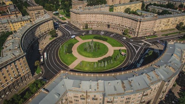 Vue aérienne de la place komsomola