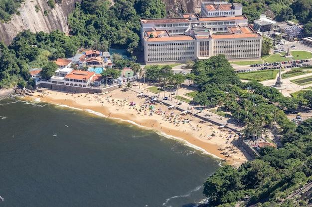Vue aérienne de la plage rouge, rio de janeiro