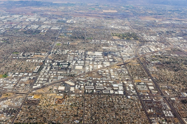 Vue aérienne d'un quartier de midtown à phoenix, arizona, états-unis