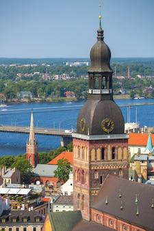 Vue aérienne de riga, lettonie
