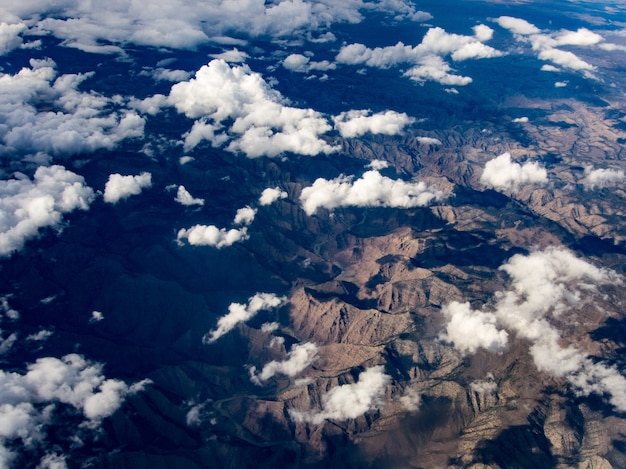 Vue aérienne de la rivière colorado, utah