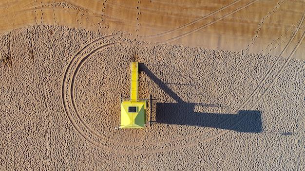 Vue aérienne d'un sauveteur de plage