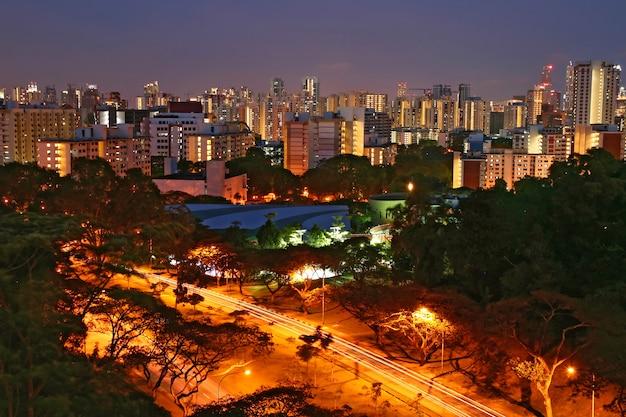 Vue aérienne de singapour