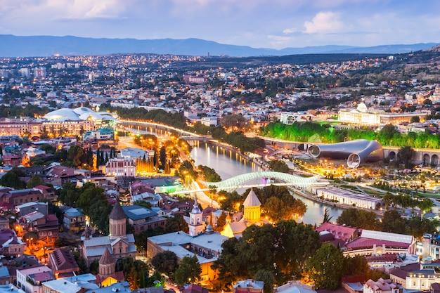 Vue aérienne de tbilissi