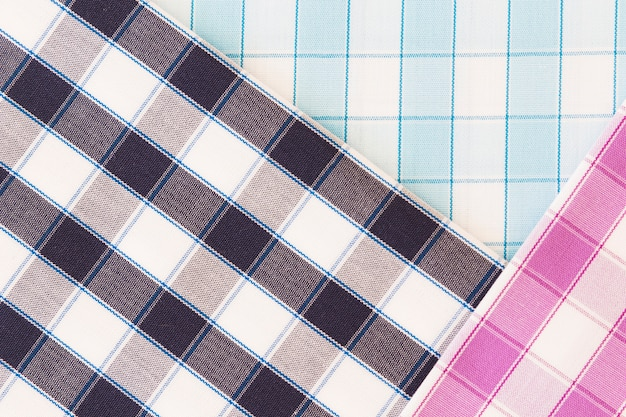Vue aérienne de toile de fond texturée en tissu uni