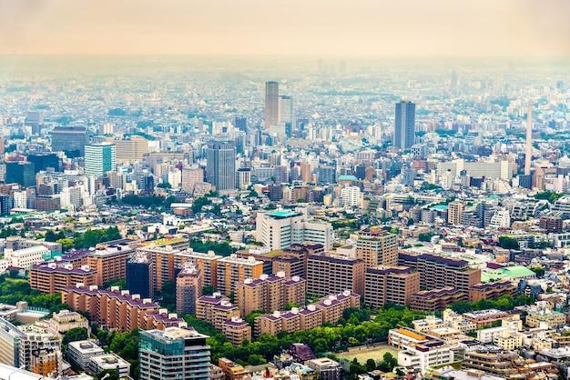 Vue aérienne de tokyo, la capitale du japon