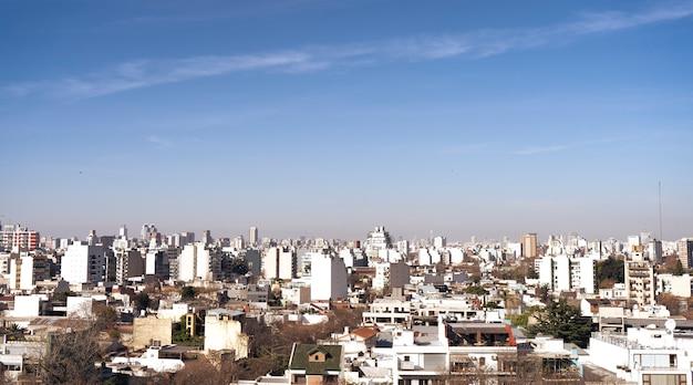 Vue aérienne de la ville de buenos aires, argentine en hiver.