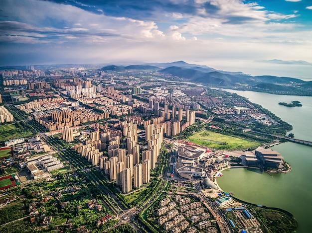 Vue aérienne de la ville chinoise