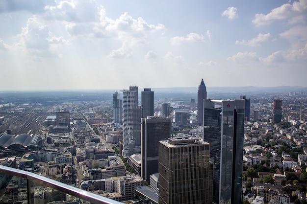 Vue aérienne de la ville de francfort, allemagne