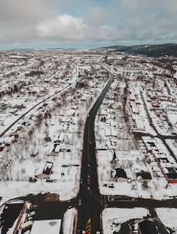 Vue aérienne de la ville pendant la journée