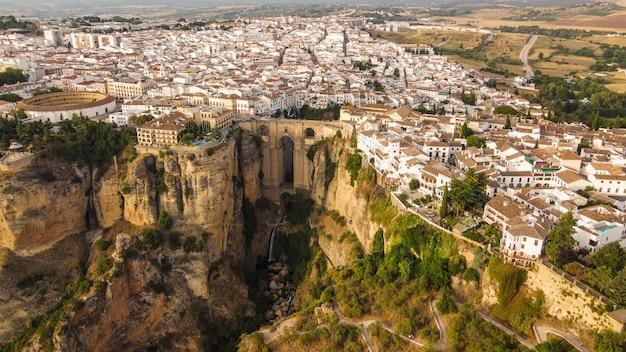 Vue aérienne de la ville de ronda en espagne