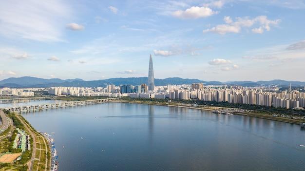 Vue aérienne de la ville de séoul