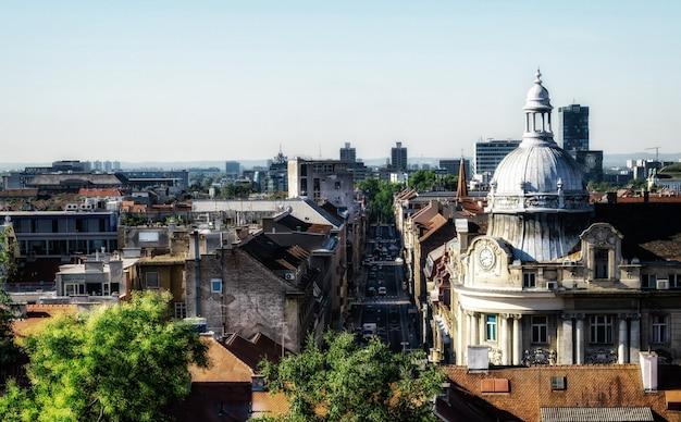 Vue aérienne de la ville de zagreb, capitale de la croatie.