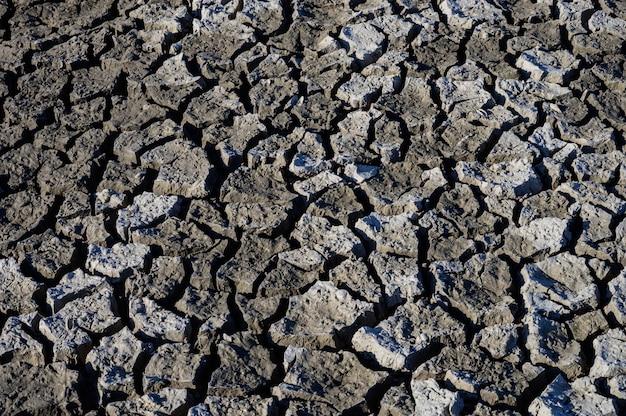 Vue aérienne vue de dessus. changement climatique et sécheresse des terres, crise de l'eau et réchauffement climatique