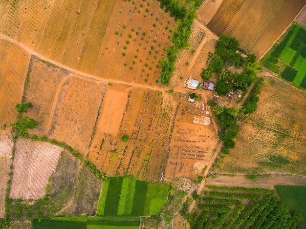 Vue aérienne de la zone agricole