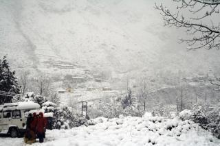 Vue sur les alpes, l'himalaya, le paysage