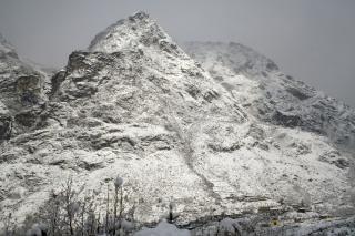 Vue sur les alpes, village