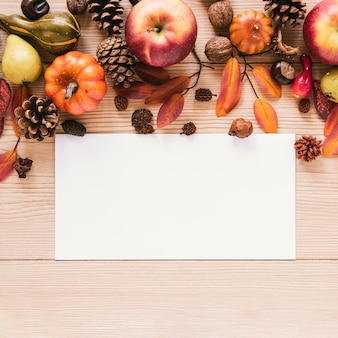 Vue d'automne vue de dessus avec espace de copie