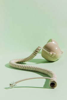 Vue avant du cordon avec récepteur téléphonique
