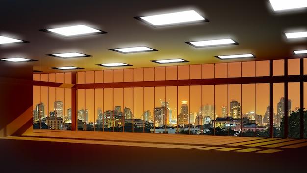 Vue des bâtiments de la fenêtre de grande hauteur