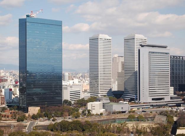 Vue, de, bâtiments, et, ville, paysage, japon
