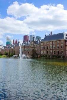 Vue de binnenhof (parlement néerlandais), la haye, pays-bas