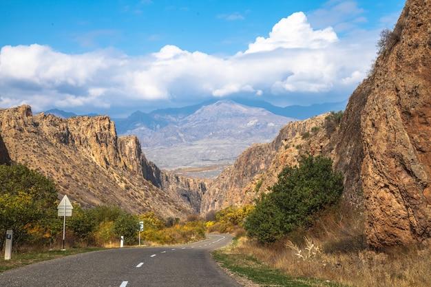 Vue de bord de route de l'arménie