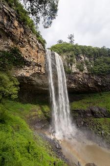 Vue, de, caracol, cascade, canela, ville, rio grande do sul, brésil