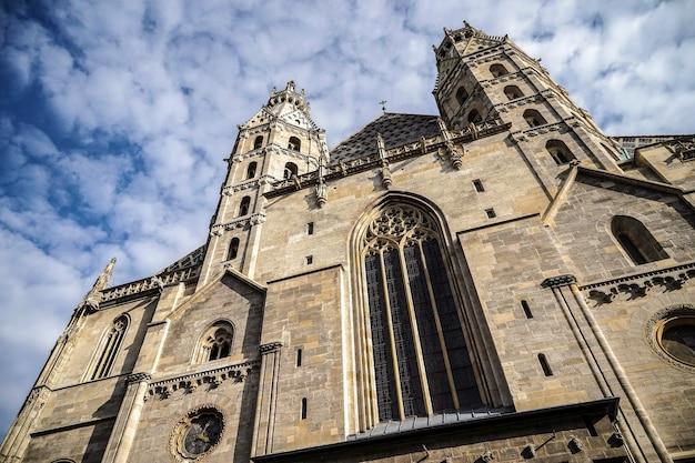 Vue de la cathédrale st stephans à vienne