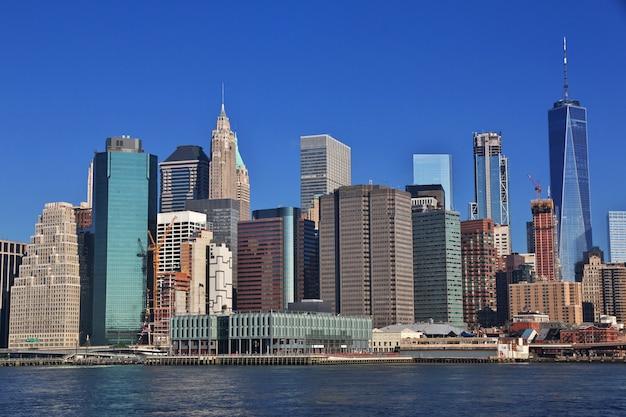 La vue sur le centre-ville, new york, états-unis