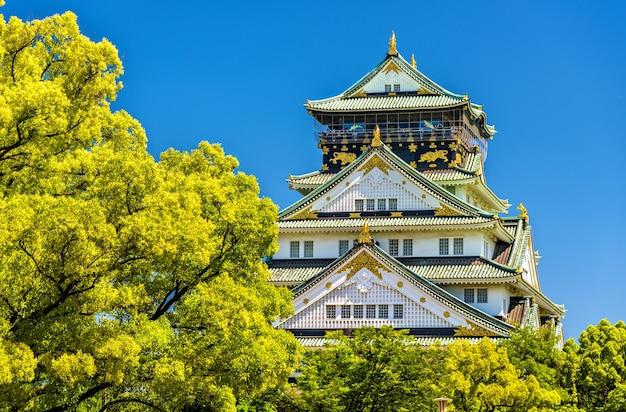 Vue sur le château d'osaka à osaka, japon