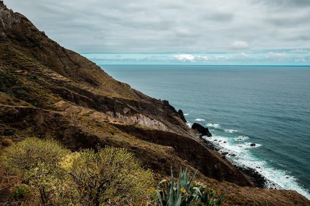 Vue de la côte du parc paysager d'anaga