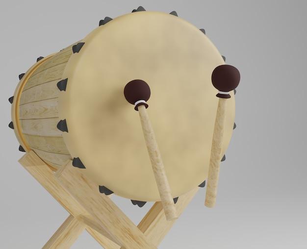 Vue de côté de tambour nosque réaliste rendu 3d