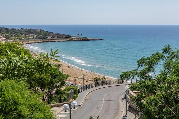 Vue depuis le balcon méditerranée tarragone