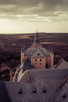 Vue depuis le château de l'alcazar à ségovie, espagne
