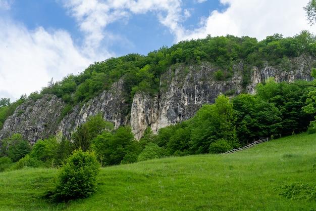 Vue depuis les montagnes de piatra craiului, roumanie