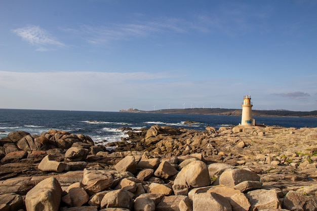 Vue depuis le phare de muxia jusqu'à la côte de camariñas