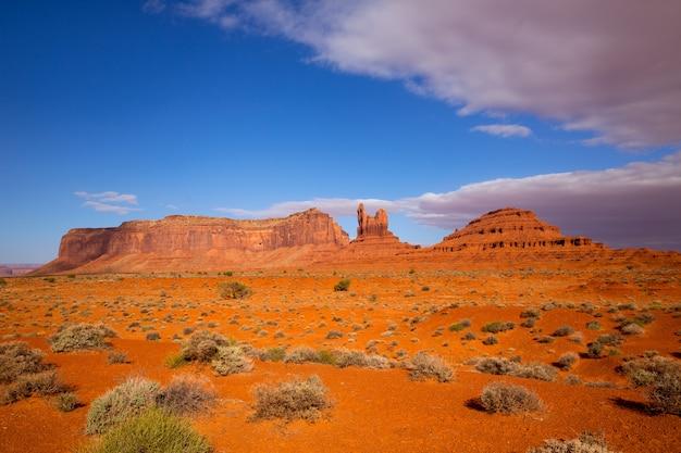 Vue depuis la route panoramique américaine jusqu'à monument valley, dans l'utah