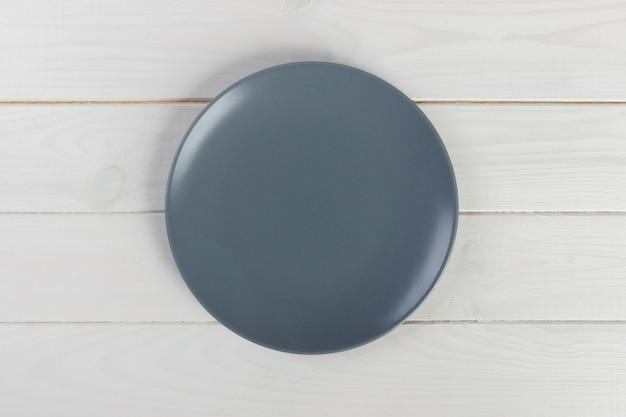 Vue de dessus assiette ronde vide