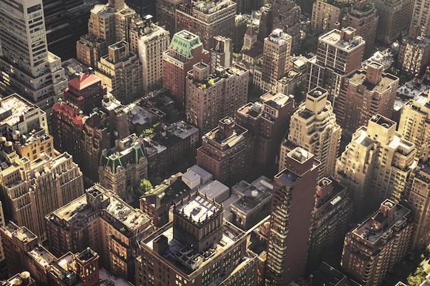 Vue de dessus des bâtiments de manhattan midtown