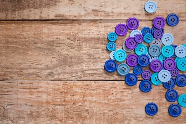 Vue de dessus des boutons avec espace copie