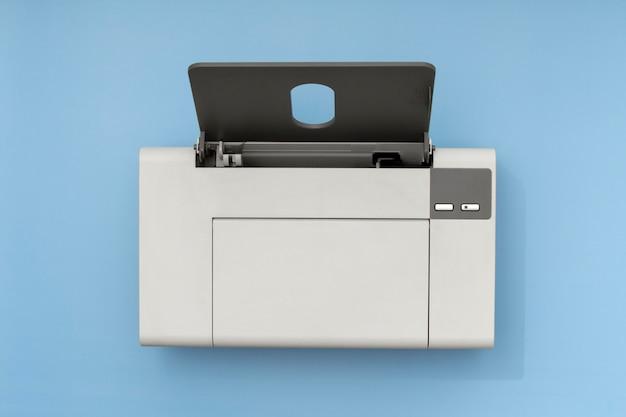 Vue de dessus de la composition de l'imprimante nature morte