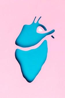 Vue de dessus concept de la journée mondiale du cœur