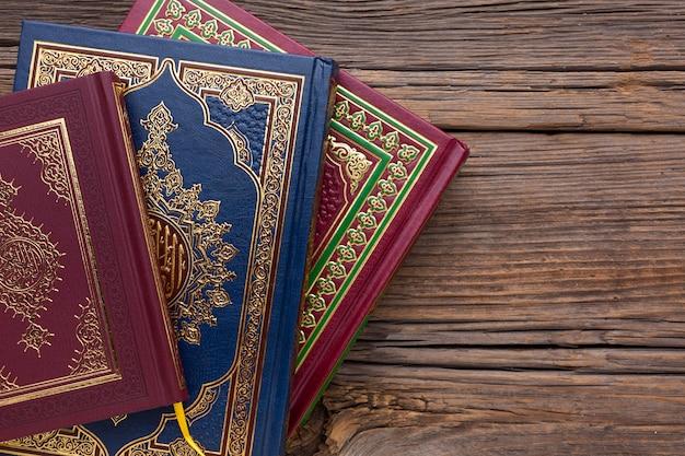Vue de dessus concept de nouvel an islamique