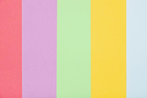 Vue de dessus couleurs colorées