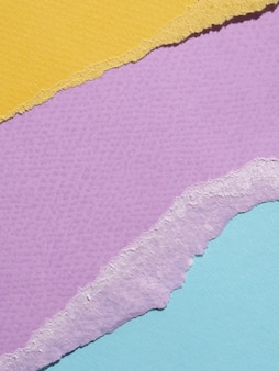 Vue de dessus déchiré lignes de papier abstraite