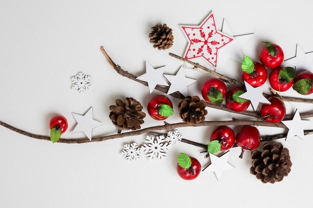 Vue de dessus décorations pour le nouvel an